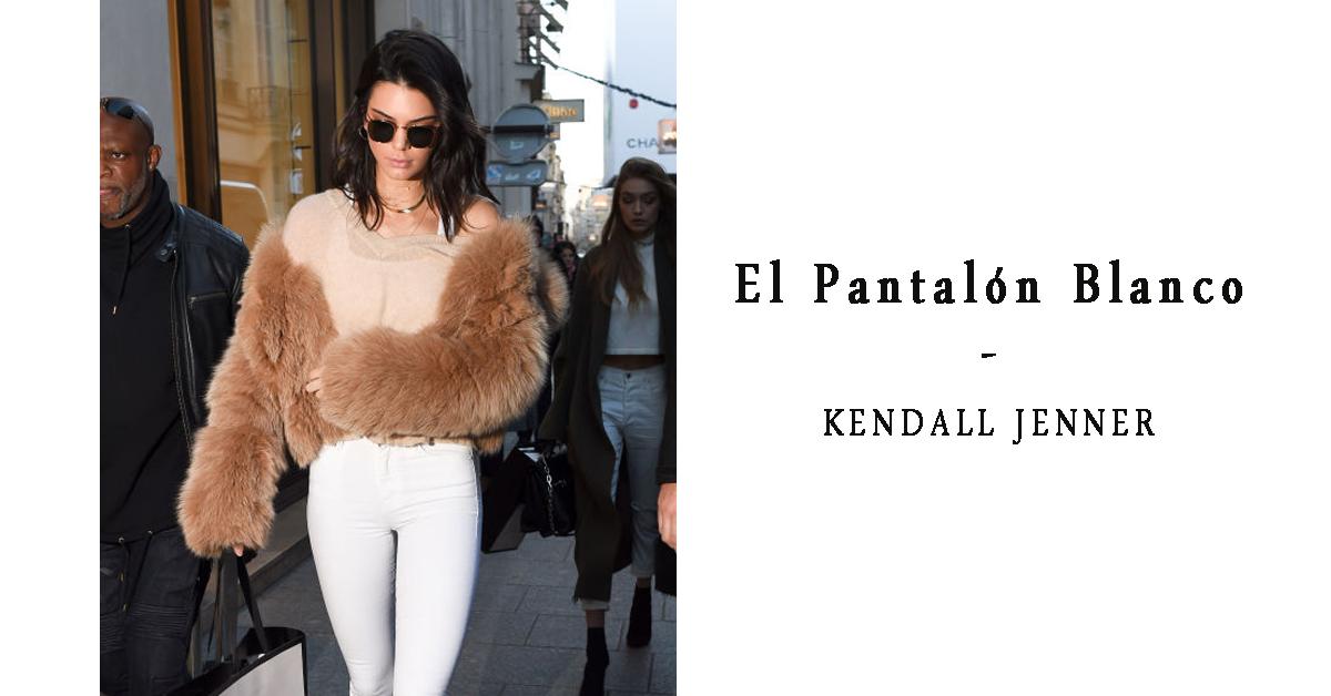 16 Formas de Llevar el Pantalón Blanco - Kendall Jenner